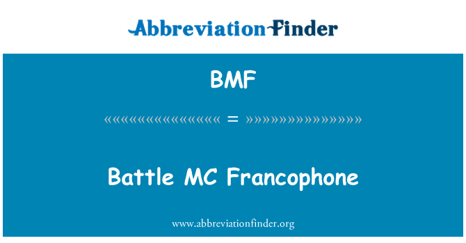 BMF: Battle MC Francophone