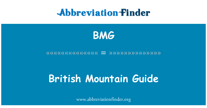 BMG: British Mountain Guide