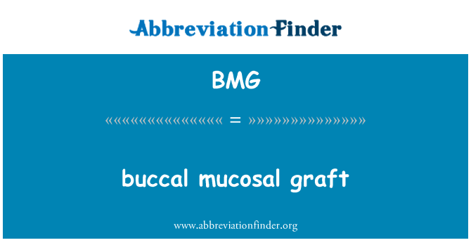 BMG: buccal mucosal graft