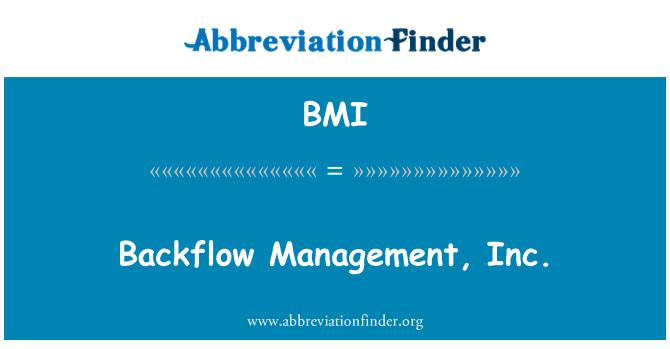 BMI: Backflow Management, Inc.