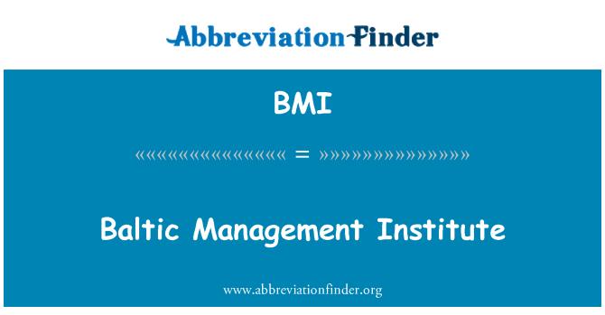 BMI: Baltic Management Institute