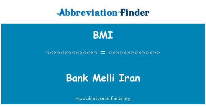 BMI: Bank Melli Iran