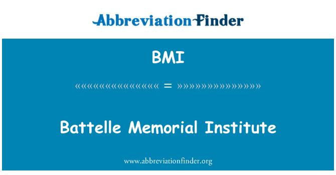 BMI: Battelle Memorial Institute