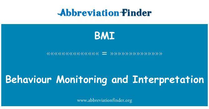 BMI: Behaviour Monitoring and Interpretation