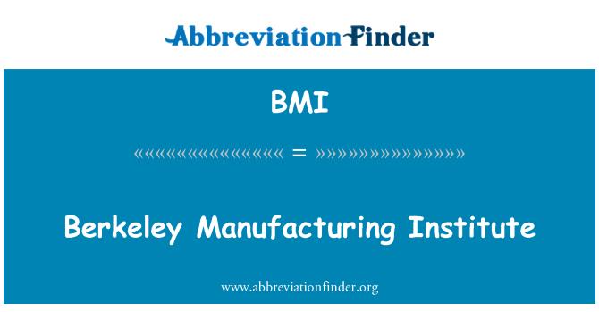 BMI: Berkeley Manufacturing Institute