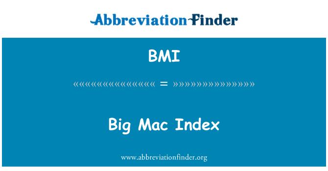 BMI: Big Mac Index