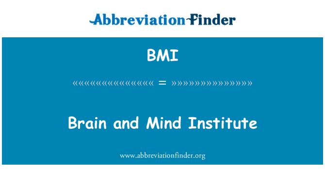 BMI: Brain and Mind Institute