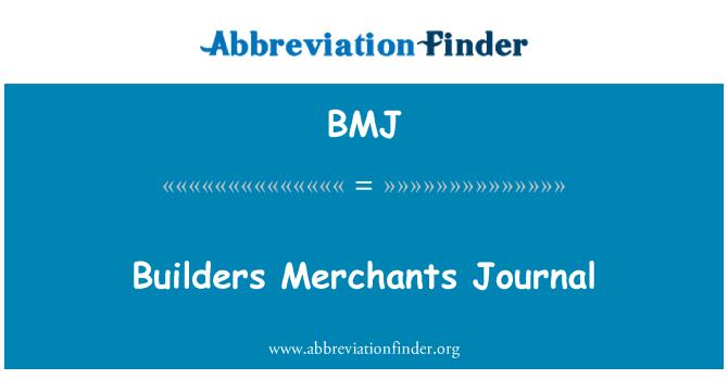 BMJ: Builders Merchants Journal