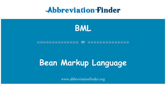BML: Bean Markup Language