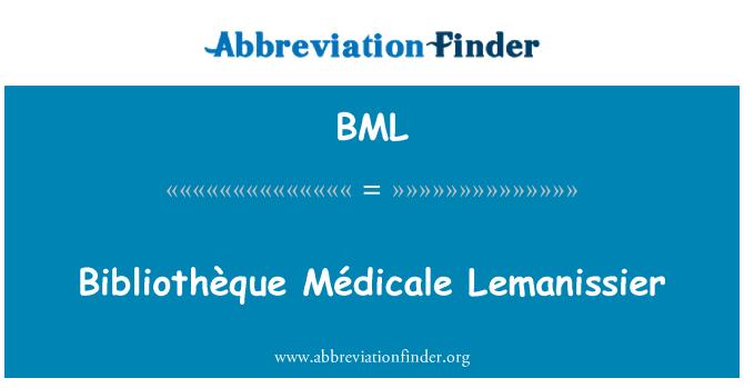BML: Bibliothèque Médicale Lemanissier