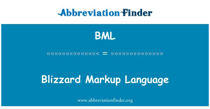 BML: Blizzard Markup Language