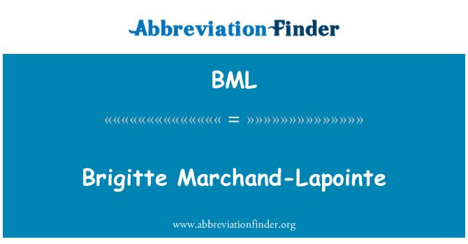 BML: Brigitte Marchand-Lapointe