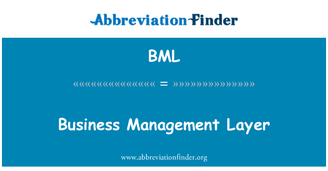 BML: Business Management Layer