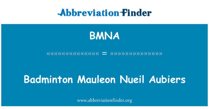 BMNA: Bádminton Mauleon Nueil Aubiers