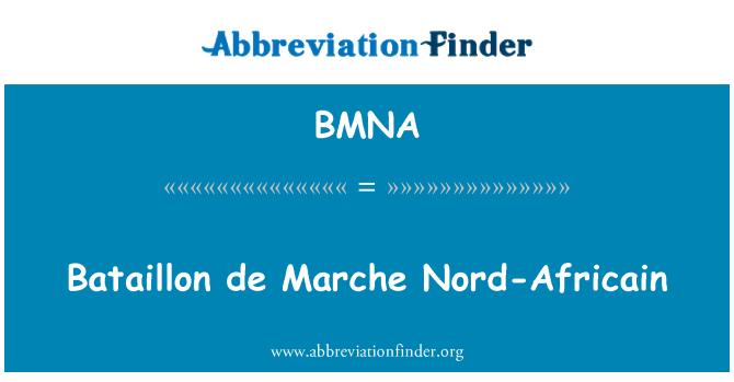 BMNA: Bataillon 德马尔凯北部非洲