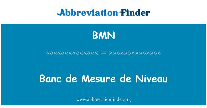 BMN: Banc de Mesure de Niveau
