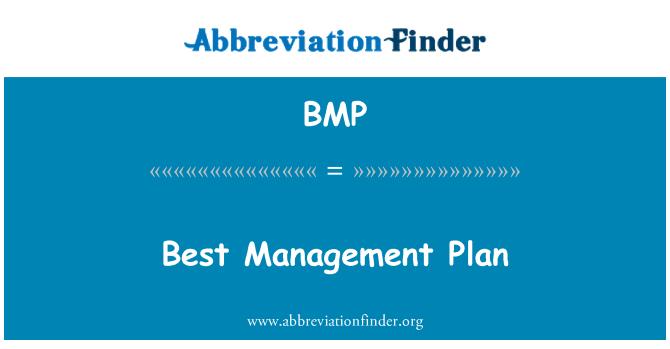 BMP: Best Management Plan