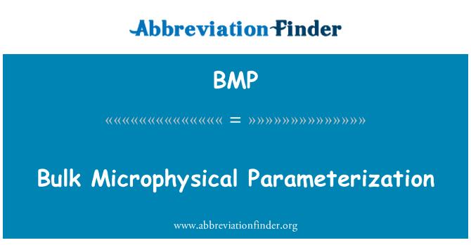 BMP: Bulk Microphysical Parameterization