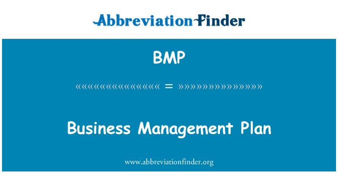 BMP: Business Management Plan