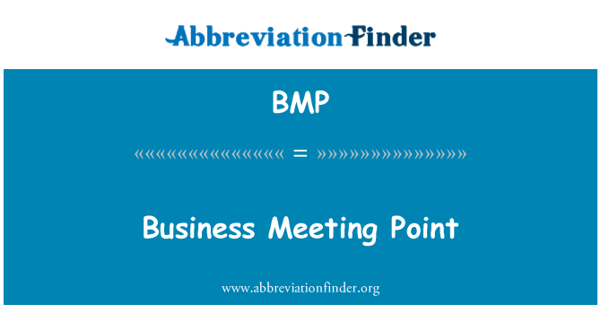 BMP: Business Meeting Point