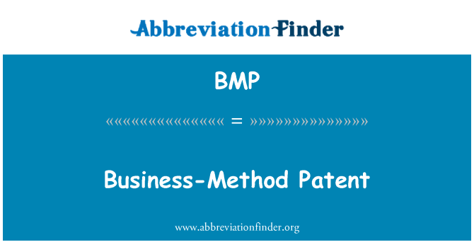 BMP: Business-Method Patent
