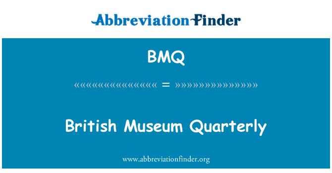 BMQ: British Museum Quarterly