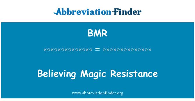BMR: Believing Magic Resistance