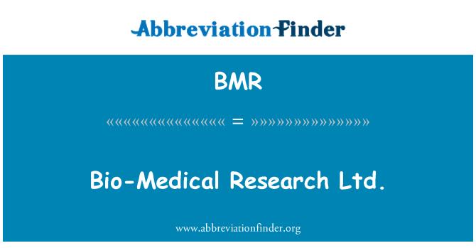 BMR: Bio-Medical Research Ltd.