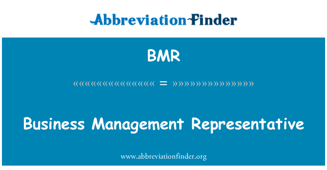 BMR: Business Management Representative