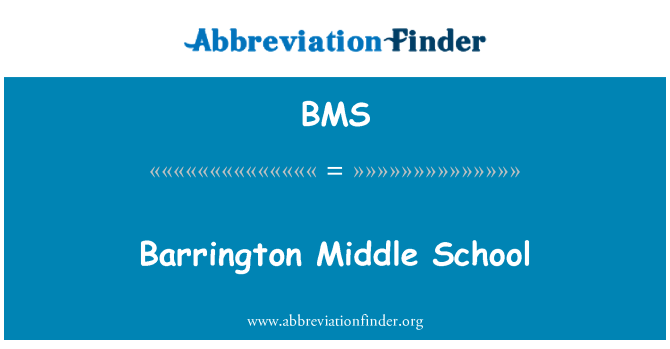 BMS: Barrington Middle School