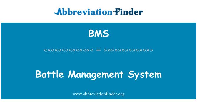 BMS: Battle Management System