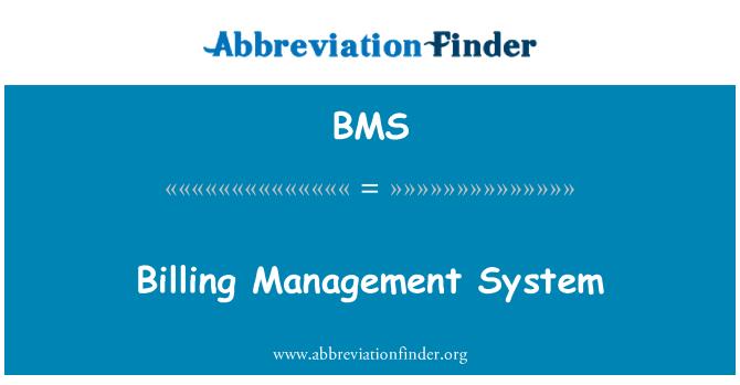BMS: Billing Management System
