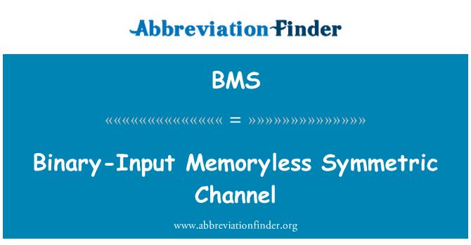 BMS: Binary-Input Memoryless Symmetric Channel