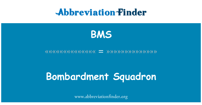 BMS: Bombardment Squadron