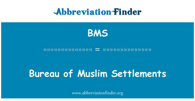 BMS: Bureau of Muslim Settlements