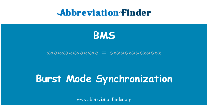 BMS: Burst Mode Synchronization