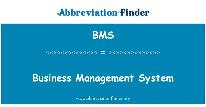 BMS: Business Management System