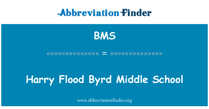BMS: Harry Flood Byrd Middle School