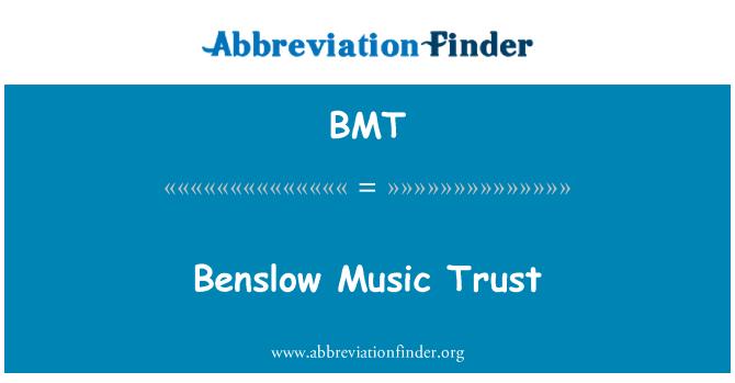 BMT: Benslow Music Trust