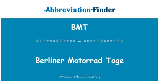 BMT: Berliner Motorrad Tage