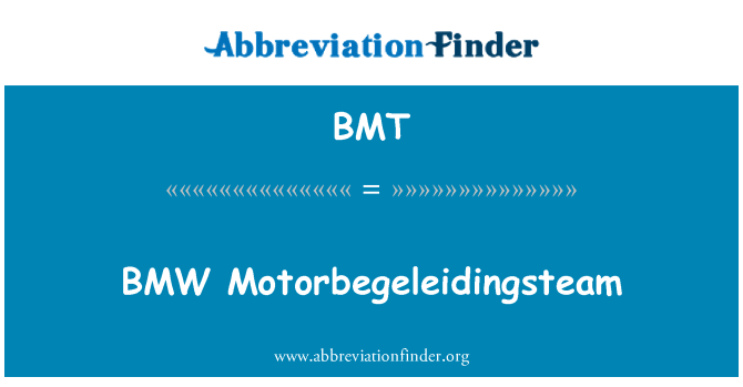 BMT: BMW Motorbegeleidingsteam