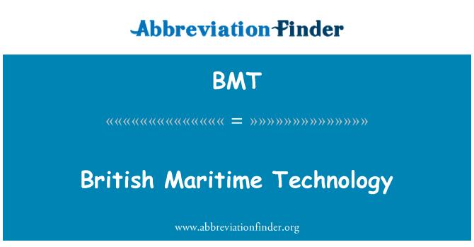 BMT: British Maritime Technology