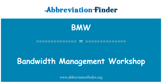 BMW: Bandwidth Management Workshop