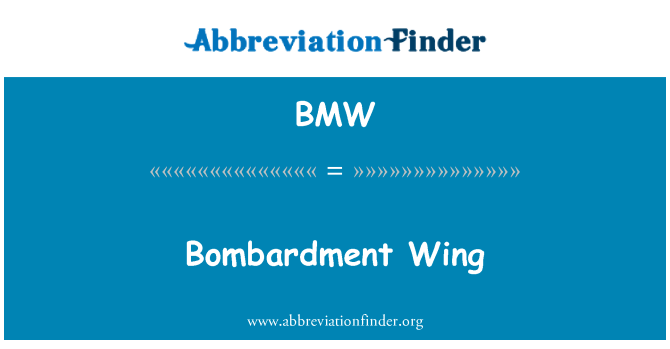 BMW: Bombardment Wing