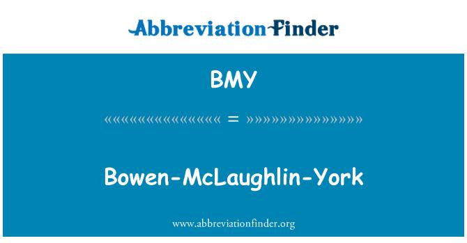 BMY: Bowen-McLaughlin-York