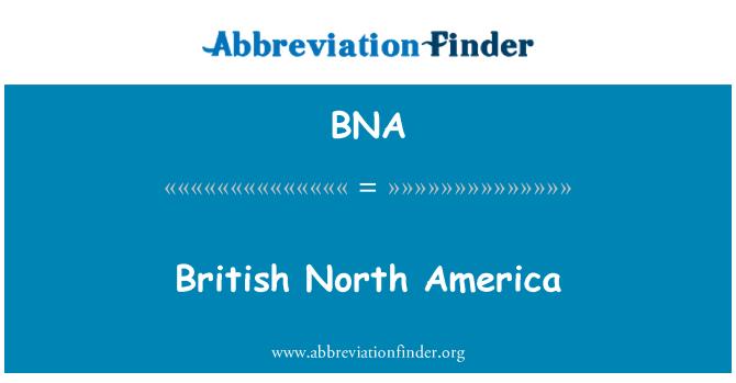 BNA: British North America