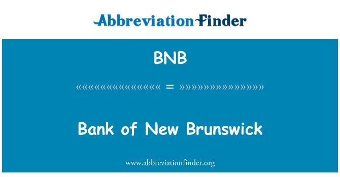 BNB: Bank of New Brunswick