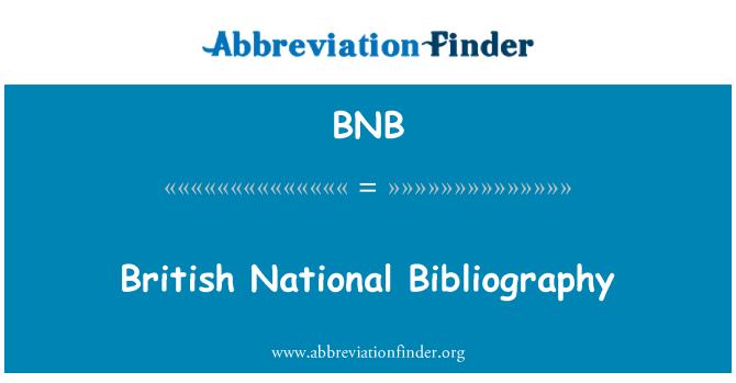 BNB: British National Bibliography