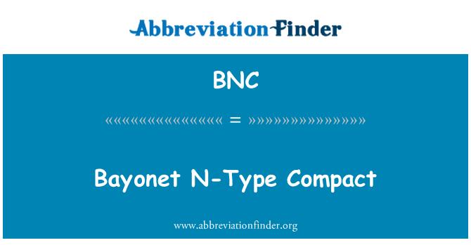 BNC: Bayonet N-Type Compact