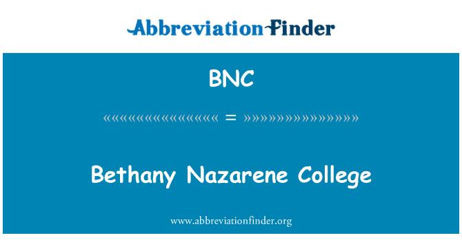 BNC: Bethany Nazarene College